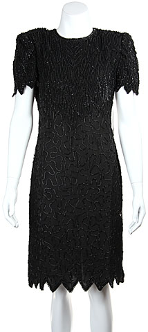 Sequin Beaded Leaf Print Sequin Formal Dress. 11612.