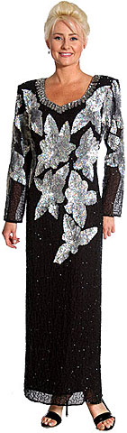 Multi Floral Long Formal Evening Gown. 119.