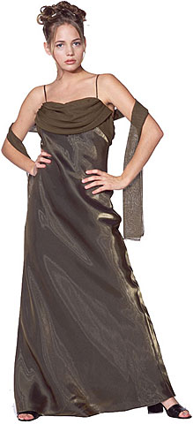 Valance Style Flared Long Formal Dress. 13003.