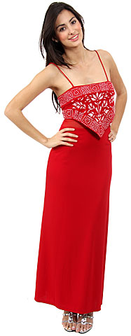 8952b9228b22 Spaghetti Strap Beaded Design Formal Dress. 13213.