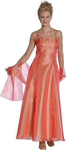 Shimmering Organza A-line Bridesmaid Dress. 13254.