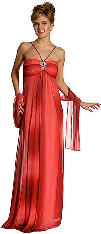 Ruched Ombre Grecian Style Formal Formal Dress. 13524.