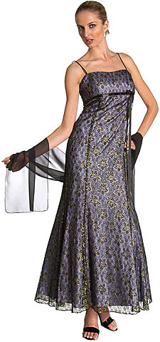 Empire Style Floral Lace Dress. 13534.
