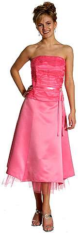 Strapless Princess Cut Two Piece Formal Bridesmaid Dress. 13598.