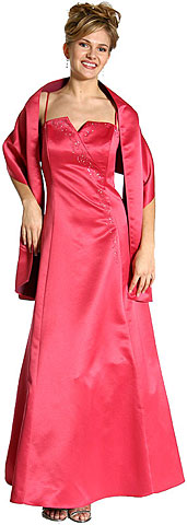 Spaghetti Full Length Formal Prom Dress. 13608.