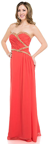 Strapless Sweetheart Neck Long Formal Prom Dress. 16046.