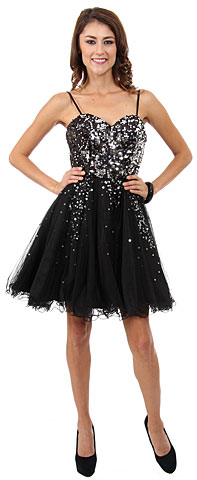 Spaghetti Straps Sweetheart Neck Short Prom Dress . 16079.