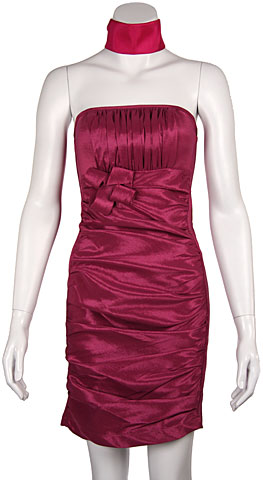 Strapless Shirred Fitted Party Party dress. 16081.