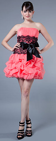 Multi Detailed Bubble Prom Dress. 16089.