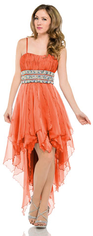Spaghetti Straps High-Low Prom & Party Dress. 16100.