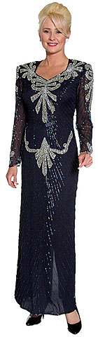 Bow Beadwork Full Length Evening Gown