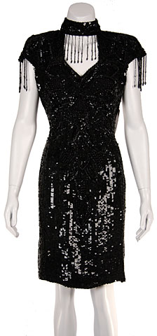 Short Fully Beaded Cocktail Dress. 224.