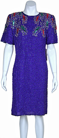 Round Neck Short Sequin Cocktail Dress. 2880.