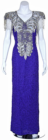 Elegant Hand Beaded Sequin Evening Gown. 2960.