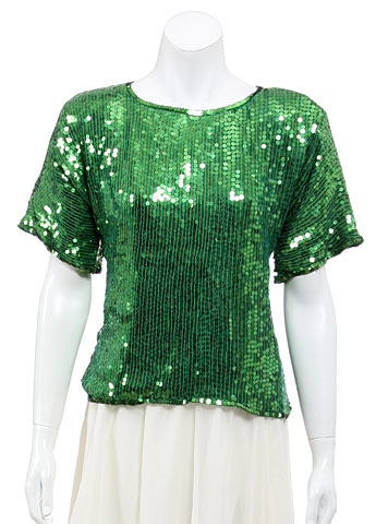 Fully Hand Sequined Pull Over Top