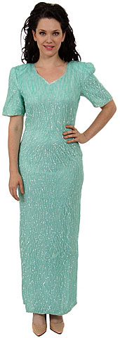 Short Sleeved Formal Sequin Dress. 3223.
