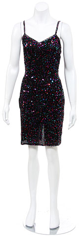 Party Short Dress Fully Sequined . 3225.
