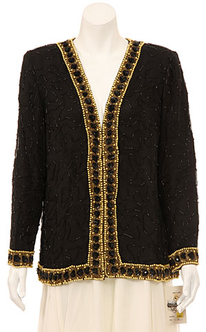 Long Sleeve Sophisticated Sequined Jacket