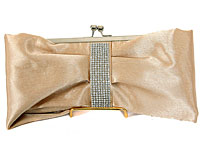 Romantic Bow Evening Bag. 3329-gd.