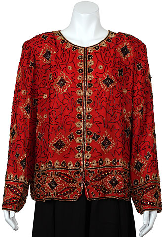 Floral Pattern Hand Beaded Jacket