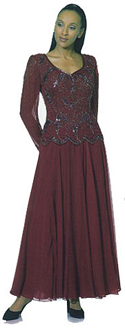 Full Length A-Line Beaded Dress