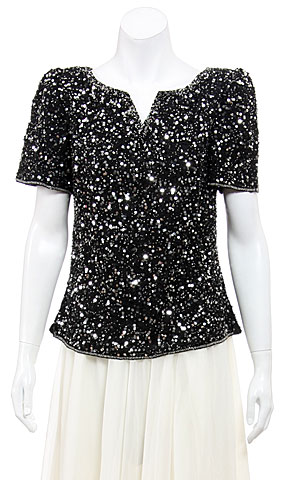 Sparkling Night Hand Sequined Blouse
