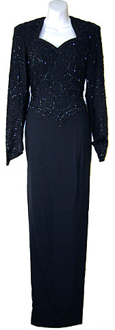 Full Sleeved Formal Mother of the Bride Dress. 5742.