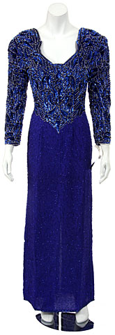 Full Sleeve Sweetheart Sequined Mother of the Bride Dress. 7030.