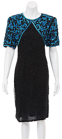 Hand Beaded Formal/Cocktail Short Dress. 7047.
