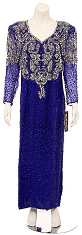 V-Neck Fully Sequin Formal Gown. 7189.