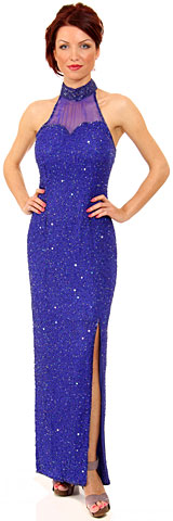 Halter Neck Sequined Pageant Dress. 7570.