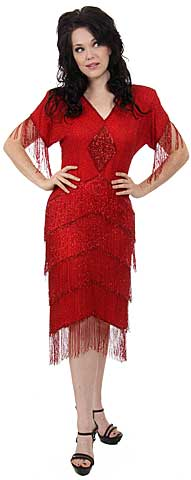 Twenties Inspired Hand Beaded Vintage Dress . 7644.