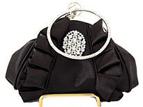 Hold and Shine Evening Bag In Black. 80019-bk.
