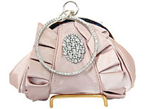 Hold and Shine Evening Bag In Champaign. 80019-ch.