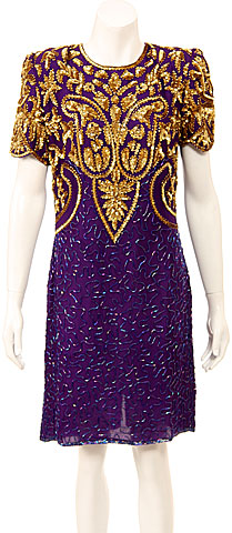 Fully Sequined Cocktail Dress. 8003.