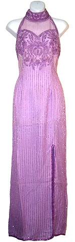 Halter Neck Sequined Formal Formal Dress . 8725.