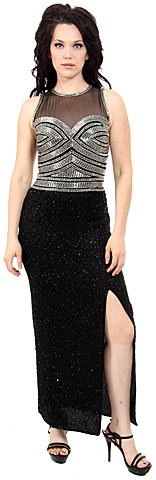 Hand Beaded Sequin Formal Dress. 8844.