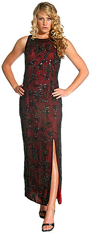 Fully Beaded Sequined Evening Dress. 8878.