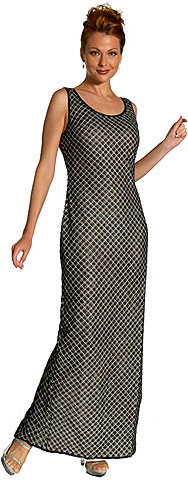 Diagonal Beaded Full Length Cocktail Dress. 8894.