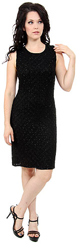 Miniature Floral Beaded Sleeveless Sequin Formal Dress. 8895.