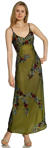 Multi Colored Flowered Sequin Dress. 8920.