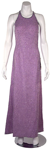 Lilac Formal Evening Dress with Criss Cross Back. 9217.