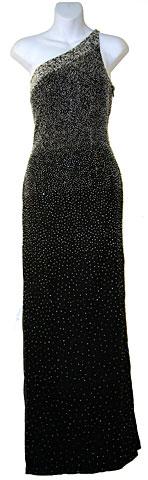 f41ab700f23f Single Shoulder Beaded Formal Dress. 9219.