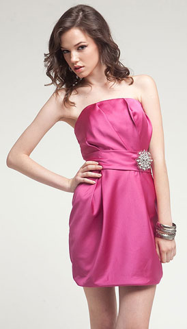 Satin Mini Bridesmaid dress . a309.