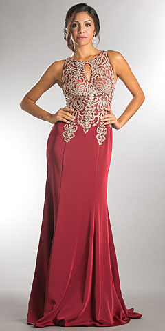 Exquisite Lace Bodice Long Formal Evening Dress. a562.