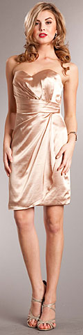 Strapless Wrap Around Short Bridesmaid Party Dress. a628.