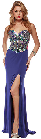 Sweetheart Neck Rhinestones Bodice Long Pageant Dress. a633.