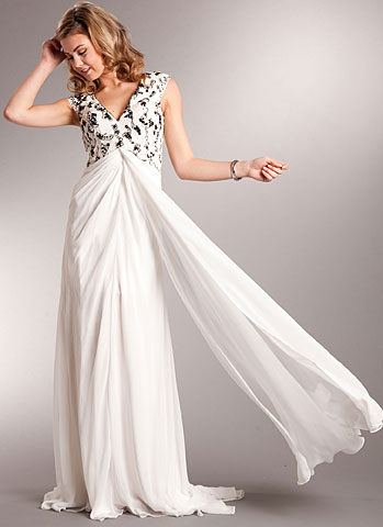 V-Neck Floor Length Elegant Back Beaded Formal Dress. a713.