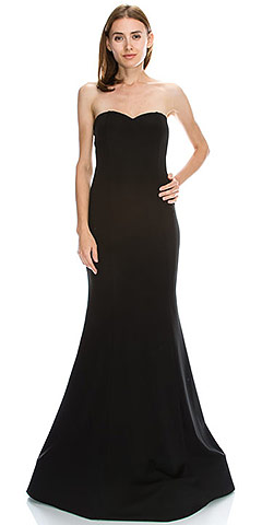 Strapless Sweetheart Neck Floor Length Formal Evening Dress. c011.