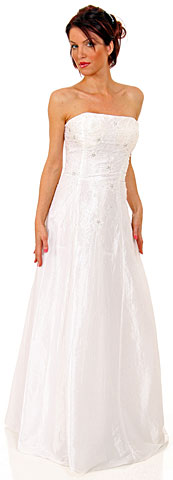 Criss Crossed Off-Shouldered Beaded Quinceanera Dress. c2200.